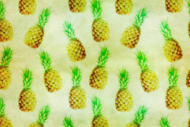 pineapple-wallpaper-vintage